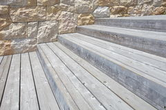 Wood step or Stair Royalty Free Stock Images