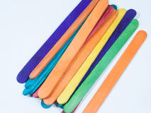 Wood stick many colors Royalty Free Stock Photo