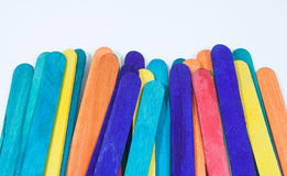 Wood stick many colors Royalty Free Stock Photos