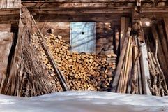 Wood stockage Stock Photo