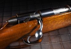 Wood stocked rifle Royalty Free Stock Photography