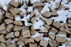 Wood stockpile Royalty Free Stock Images