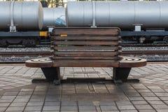 Wood stol Arkivfoto