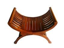 Wood stol för teakträ royaltyfri fotografi