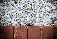 Wood and stone Stock Image