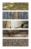 Wood and stone Royalty Free Stock Photos
