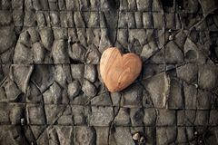 Wood Stone Nature Love Heart Background stock photography