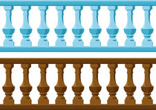 Wood and Stone railing Royalty Free Stock Photo