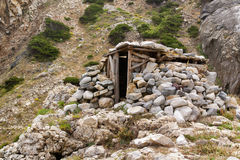 Wood and stone shelter Royalty Free Stock Photography