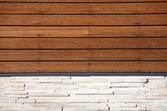 Wood and stone wall Royalty Free Stock Photography