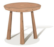 Wood Stool Royalty Free Stock Photography