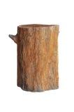 Wood stool isolated on white Stock Photo