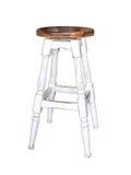 Wood stool isolation on white. Bakground Royalty Free Stock Images