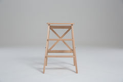 Wood stool on a white background. Wood stoo , chairl on a white background stock images
