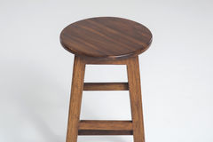 Wood stool on a white background. Wood stoo , chairl brown color on a white background stock image