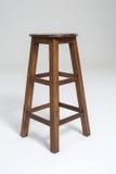Wood stool on a white background. Wood stoo , chairl brown color on a white background Stock Images