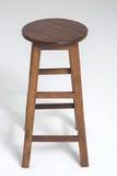 Wood stool on a white background. Wood stoo , chairl brown color on a white background Stock Image