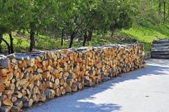 Wood Storage Stock Photo