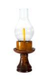 Wood storm lantern. Isolated on white background Stock Image
