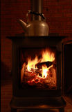 Wood Stove and Kettle Stock Images