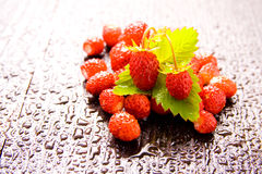 Wood strawberries Royalty Free Stock Photo