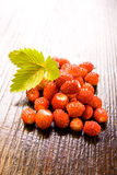 Wood strawberries Royalty Free Stock Image