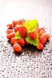 Wood strawberries Stock Image