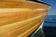Wood Strip Boat stock photo