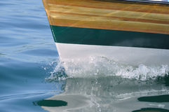 Wood Strip Boat Royalty Free Stock Image