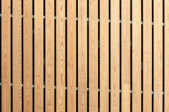 Wood stripes facade building decor Stock Photo