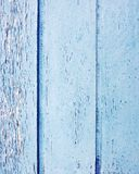 Wood strips painted blue Stock Photo