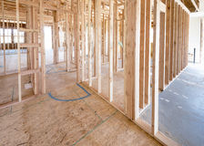 Wood Struction Of New Home Under Construction Royalty Free Stock Photos
