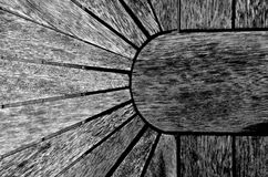 Wood structure. A black and white detail of wood Stock Photography