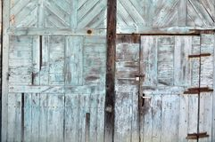 Wood structure door Stock Image