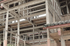 Wood structure houses under construction stock photos