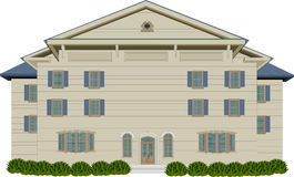 Wood Style Mansion. Vector illustration of tan and blue wood style mansion Royalty Free Stock Photography