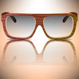 Wood sunglasses Royalty Free Stock Photography