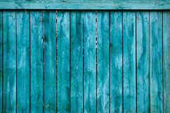 Wood surface background texture. Old blue wood fence. Texture background Stock Photos