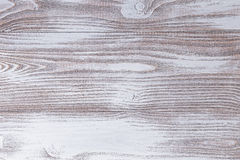 Wood surface painted with white acrylic paint Stock Photography