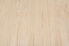 Wood surfacing. Profile wood panels ceiling covering Royalty Free Stock Photo