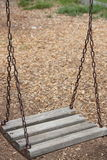 Wood Swing. Children Wood Swing in the playground Royalty Free Stock Photography