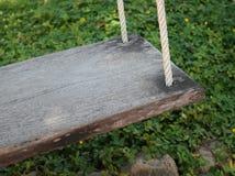 Wood swing Stock Photo