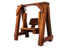 Wood swing Stock Image
