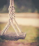 Wood swing. With soft background (retro style Royalty Free Stock Photo