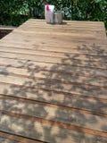 Wood tabell Royaltyfri Bild