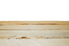 Wood tabell för tomt utrymme Arkivfoton