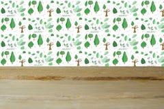 Wood tabell för tomt utrymme Royaltyfria Foton
