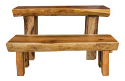 Wood table and chair Stock Images