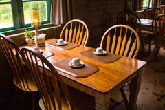 Wood table Italian-style Royalty Free Stock Photography