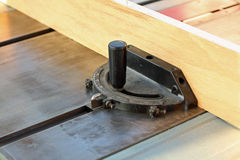 Wood on a table saw Royalty Free Stock Photography